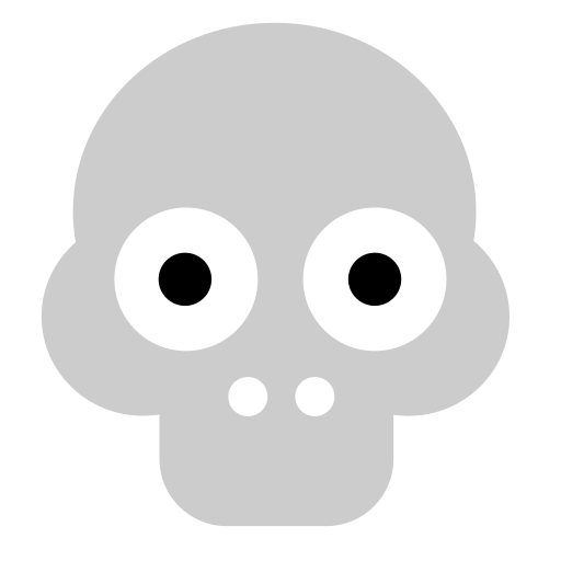 Vector image №10048 for design by keywords skull, funny, dead, head