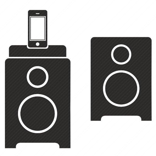 Vector image №10040 for design by keywords iphone, acoustic, speakers