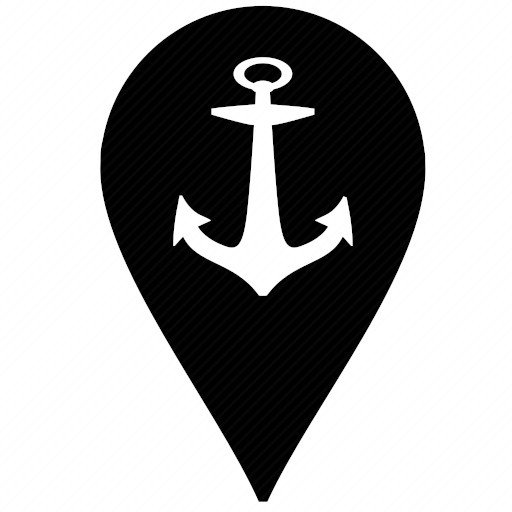 Vector image №10081 by keywords boat, ship, anchor, geo, pointer, location