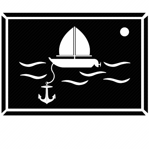 Vector image for logotype by keywords painting, anchor, under, water, ship, boat