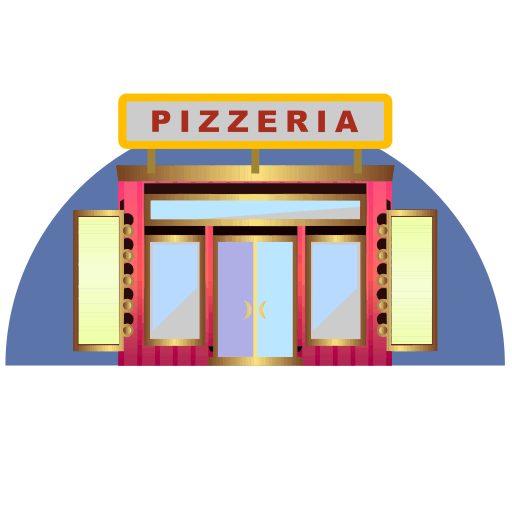 Vector image №10706 for design by keywords pizzeria, pizza, restorant, building, culture, architecture