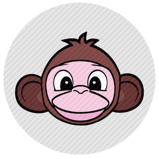 Vector image №10218 by keywords monkey, face, avatar, skin, animal