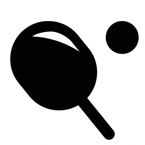 Vector image for logotype by keywords ping, pong, ball, game, sport