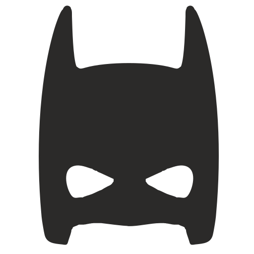 Vector image №16057 for design by keywords batman, half, face, mask, skin, hero