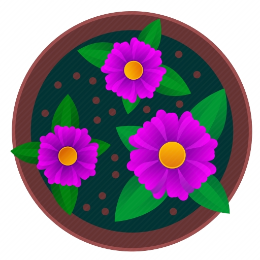 Vector image №10300 by keywords violet, flower, pot, beautiful