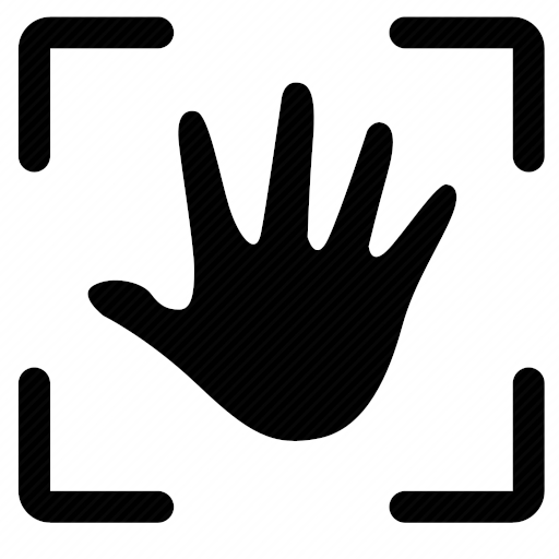 Vector image №10304 by keywords biometric, data, hand, handprint, scan, identity