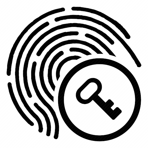 Vector image №10326 by keywords enter, key, finger, biometry, access