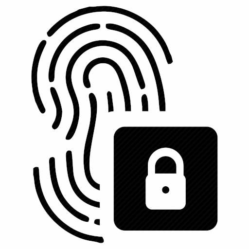 Vector image №10336 by keywords lock, finger, biometry, data, access
