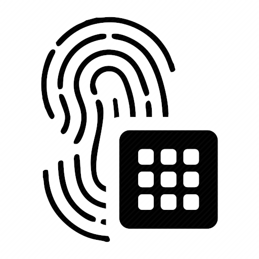 Vector image №10338 by keywords pin, password, finger, biometry, data