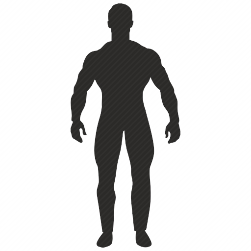 Vector image №10419 by keywords sportman, man, figure, fitness