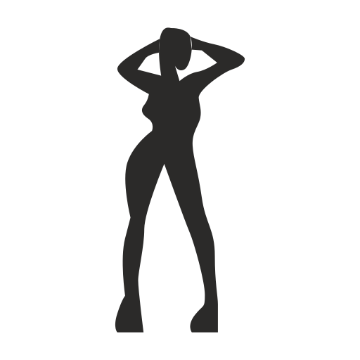 Vector image №11839 for design by keywords prostitute, dance, body, woman, girl