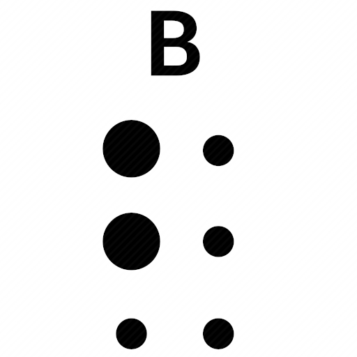 Vector image №10486 by keywords braille, alphabet, letter, b