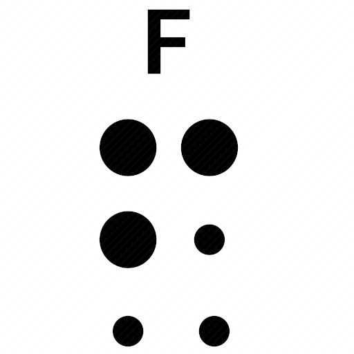 Vector image №10489 by keywords braille, alphabet, letter, f