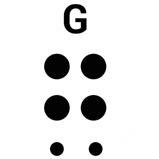 Vector image №10490 by keywords braille, alphabet, letter, g