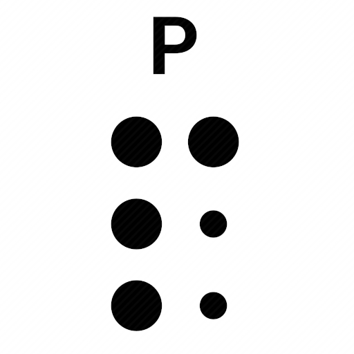 Vector image №10499 by keywords braille, alphabet, letter, p