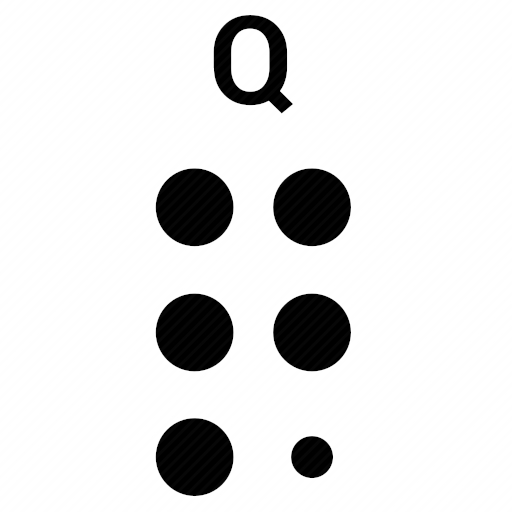 Vector image №10500 by keywords braille, alphabet, letter, q