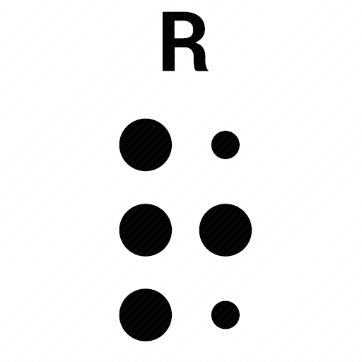 Vector image №10501 by keywords braille, alphabet, letter, r