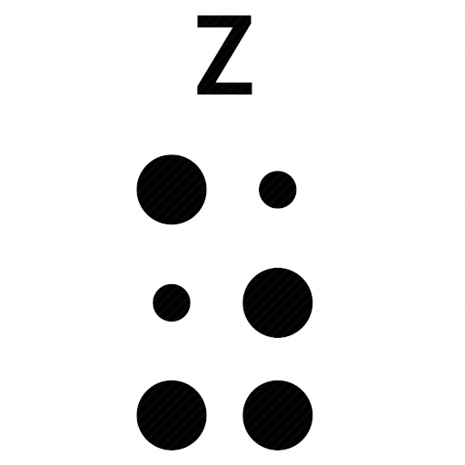 Vector image №10509 by keywords braille, alphabet, letter, z