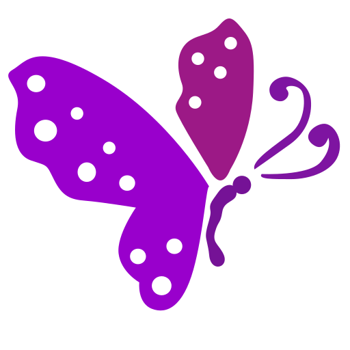 Vector image for logotype by keywords fly, butterfly, insect, violet