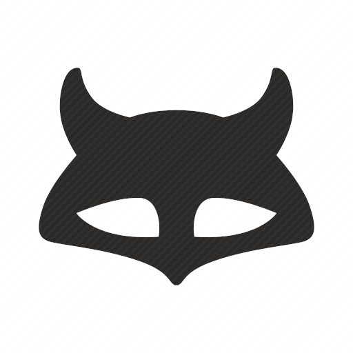 Vector image №10619 for design by keywords fox, mask, face