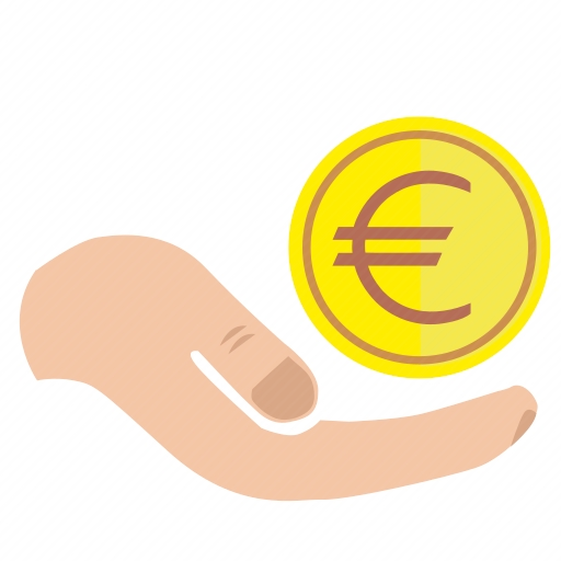 Vector image №10643 by keywords charity, mercy, hand, euro, money