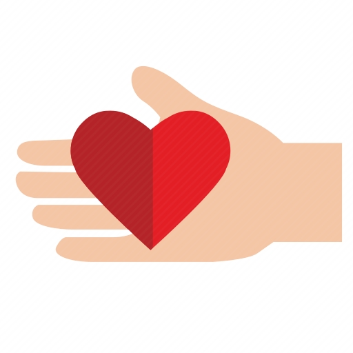 Vector image №10645 by keywords charity, mercy, heart, hand, gift, help