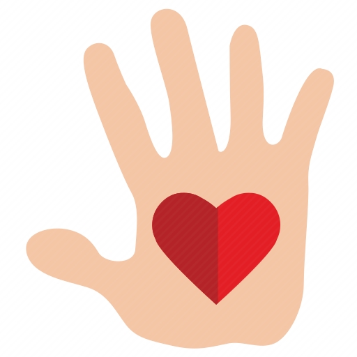 Vector image №10646 by keywords charity, mercy, heart, hand, gift