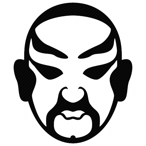 Vector image №10703 by keywords chinese, opera, mask, head, culture