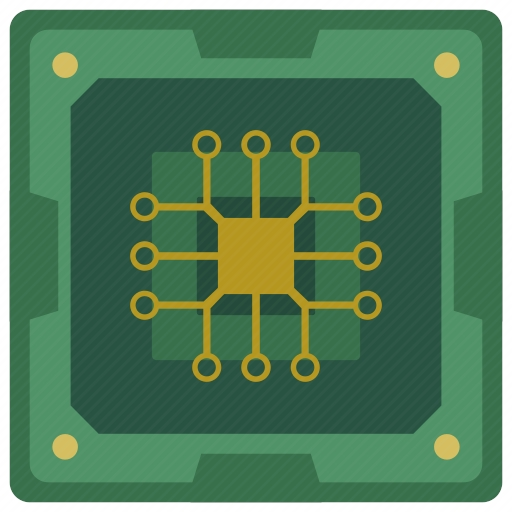 Vector image №10711 for design by keywords chip, chipset, processor, scheme, cpu