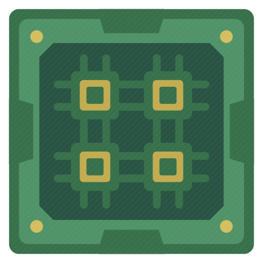 Vector image №10712 for design by keywords chip, core, cpu, chipset, processor