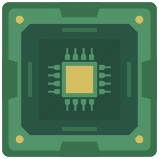 Vector image №10716 for design by keywords cpu, chip, chipset, processor