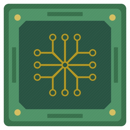 Vector image №10720 for design by keywords scheme, cpu, chip, chipset, processor