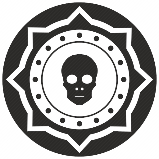 Vector image №10879 by keywords money, exchange, death, skull, coin