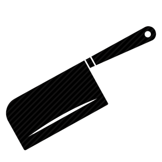 Vector image №10990 by keywords crockery, dishes, kitchen, cook, blade, knife, meat