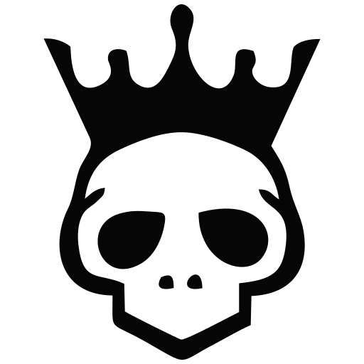 Vector image №13831 for design by keywords death, crown, royal, premium, king, game, over