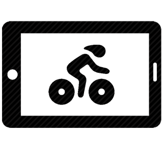 Vector image №11034 for design by keywords ipad, velo, cycle, drive, shot, sport