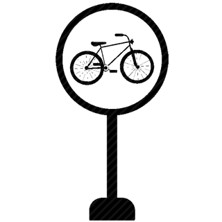 Vector image №11038 for design by keywords velo, cycle, drive, sign, road