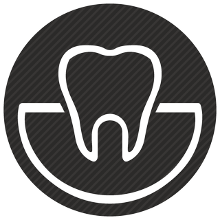 Vector image №11073 for design by keywords dental, stomatology, care, tooth, round, view, implant