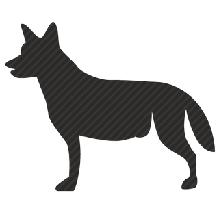Vector image №11101 by keywords dog, wolf, hunter, position, view