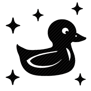 Vector image №11134 for design by keywords duck, swim, toy, stars
