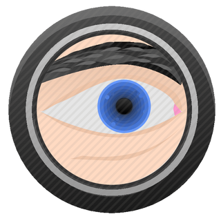 Vector image №11242 for design by keywords eye, biometry, optics, round, frame