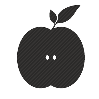 Vector image №11367 for design by keywords half, of, apple