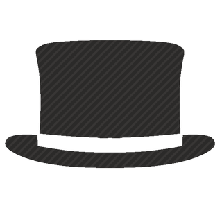 Vector image №11565 for design by keywords cylinder, hat, gentleman, fashion, style