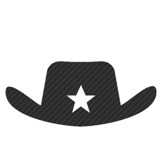 Vector image №11577 for design by keywords sheriff, police, hat, star