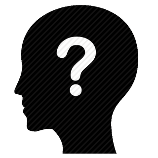Vector image №11598 for design by keywords head, mind, question, think, man