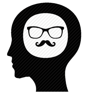 Vector image №11608 for design by keywords man, head, hipster, mind