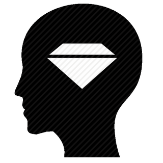 Vector image №11609 for design by keywords man, head, luxury, diamond, jewerly