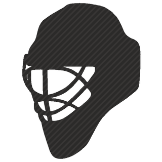 Vector image №11642 for design by keywords helmet, mask, goalie, hockey, game, safety