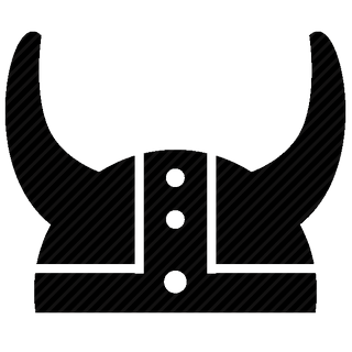 Vector image №11656 for design by keywords viking, head, protection, helmet