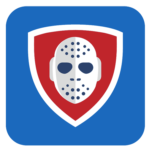 Vector image №11657 for design by keywords application, blue, red, shield, hockey, club